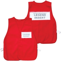ICS Cloth Safety Vest - Red