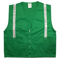 Green Cloth Fitted Vest with Stripes - Medium