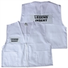 Deluxe ICS Cloth Safety Vest - White
