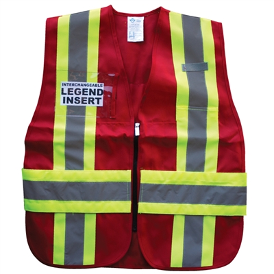 ICS Deluxe Vest with Stripes - Red