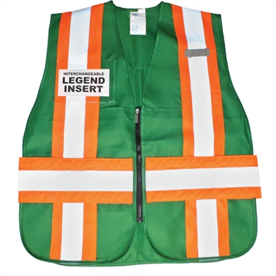 ICS Deluxe Vest with Stripes - Green