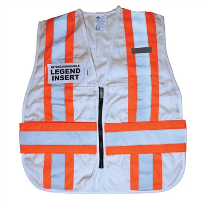 ICS Deluxe Vest with Stripes - White