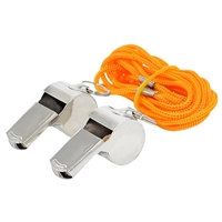 Metal Whistle with Lanyard - 2-Pack