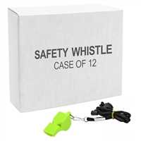 Plastic Safety Whistle - 12-Pack