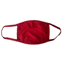 Cloth Face Mask Red