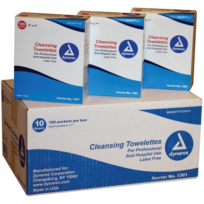 Pre-Moistened Towelettes - 1,000-Pack