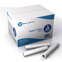 "Dynarex Exam Table Paper - 18"" x 225 Ft. - 12/Case"