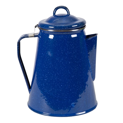 Enamel Percolator Coffee Pot - 8 Cup