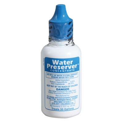 Water Preserver Concentrate - Treats 55 Gallons of Water
