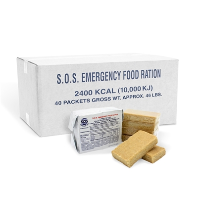 SOS Food Bar - 2400 Calorie - Case of 40