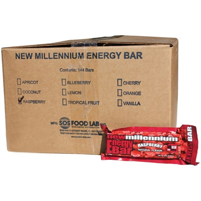 Millennium Energy Bar - Raspberry - Case of 144
