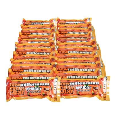 Millennium Energy Bar - Apricot - 24-Pack
