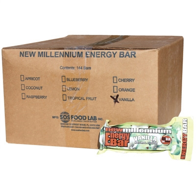 Millennium Energy Bar - Vanilla - Case of 144