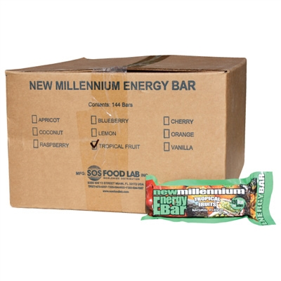 Millennium Energy Bar - Tropical - Case of 144