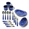 Deluxe Enamel Tableware Set - 24-Piece