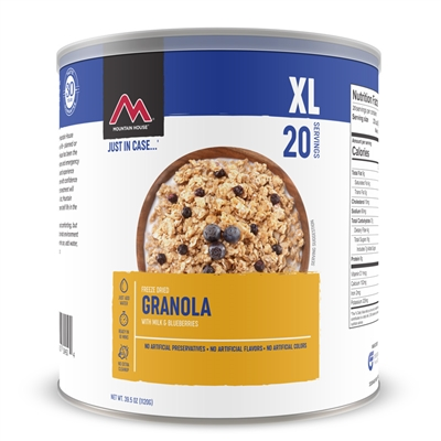 Mountain House 10 Granola with Blueberries and Milk