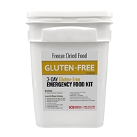 Gluten Free MRE Meals 3 Day Food Supply Bucket