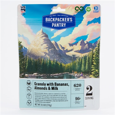 Backpacker's Pantry Granola with Bananas & Milk - Double - Expires 3/23