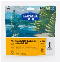 Backpacker's Pantry Granola with Blueberry & Milk - Double - EXPIRES 10/22