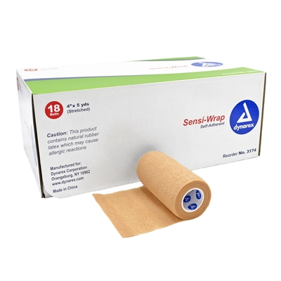 Sensi Wrap Self Adherent Bandage 4 in x 5 yd Case of 18