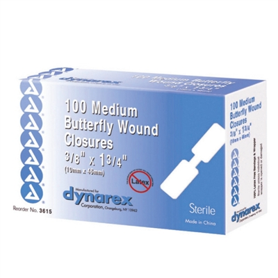 Butterfly Wound Closures - Medium - 100-Pack