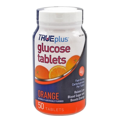 Glucose Tablets Chewable Orange - 50 Bottle