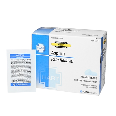 Aspirin Pain Reliever - 100 Tablets