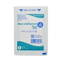 "Non-Adherent Pads, Sterile - 2"" x 3"" - 10-Pack"