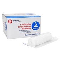 "Sterile Conforming Gauze Roll - 4"" x 4.1 Yd. - 12-Pack"