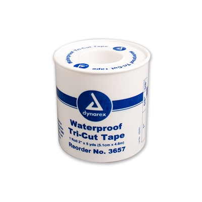"Waterproof Tri-Cut Tape 2"" x 5 Yds. - Plastic Spool"