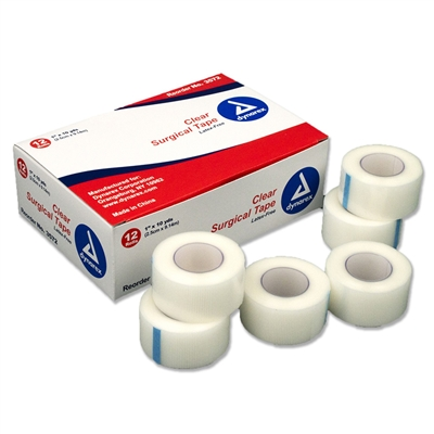 "Clear Surgical Tape - 1"" x 10 Yd. - 12-Pack"