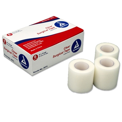 "Clear Surgical Tape - 2"" x 10 Yd. - 6-Pack"