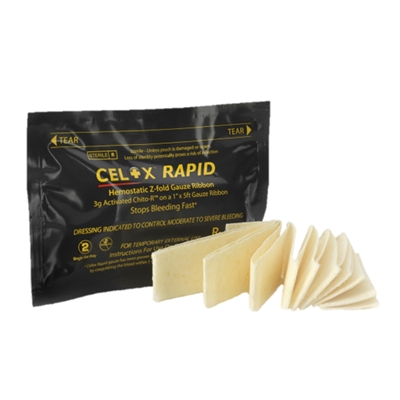 CELOX Rapid 5 Ft. Z-Fold Ribbon Gauze