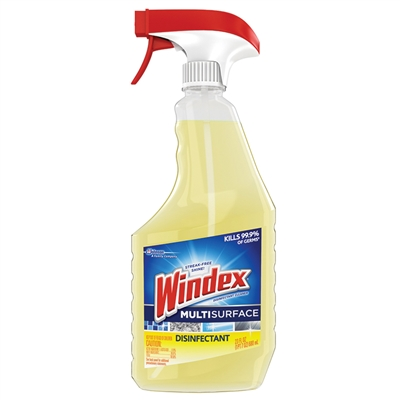 Windex Disinfectant, Multi-Surface Cleaner, 23 oz. Spray Bottle