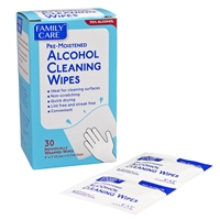 Alcohol Cleaning Wipes 30 Pack