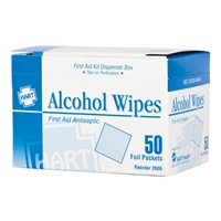 Alcohol Wipes - 50-Pack