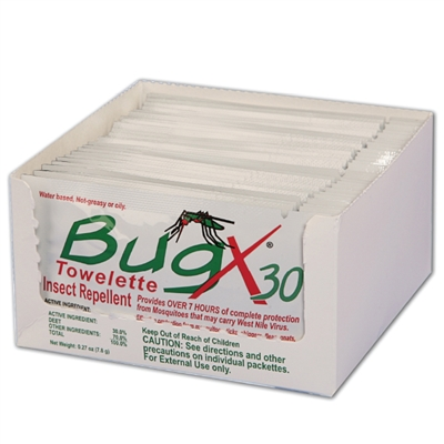 Bug X Insect Repellent Towelette - 25-Pack