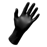 Black Nitrile Exam Gloves - Large 100 Pack