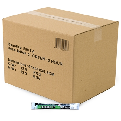 Light Stick - 12-Hour - Green - Case