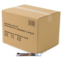 Light Stick - 12-Hour - Orange - Case