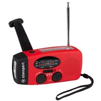 Crank Solar Flashlight Radio