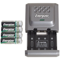 Compact Battery Charger with Batteries