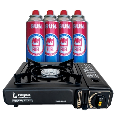 Butane Emergency Stove & Fuel Pack Bundle