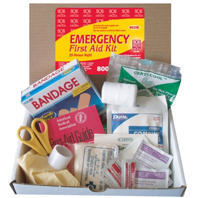 Refill for 25-Person First Aid Kit