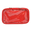 Multi Pocket Accessory Pouch - Red