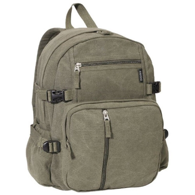 Canvas Backpack - Olive