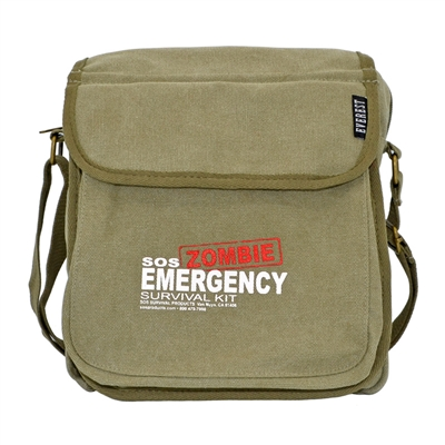 Canvas Shoulder Bag - Zombie Print