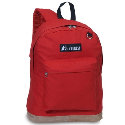 Suede Bottom Backpack - Red