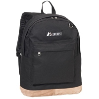 Suede Bottom Backpack - Black
