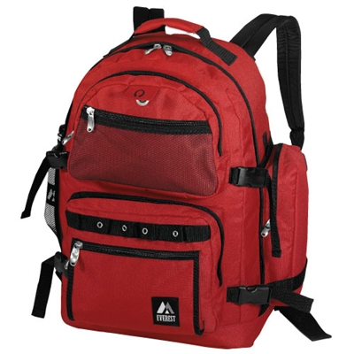 Oversized Deluxe Backpack - Red
